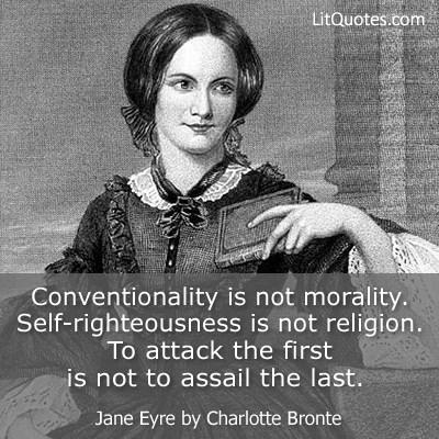 Conventionality Is Not Morality Quote Photo Litquotes Blog