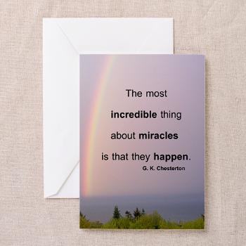 Miracles Quote Greeting Cards