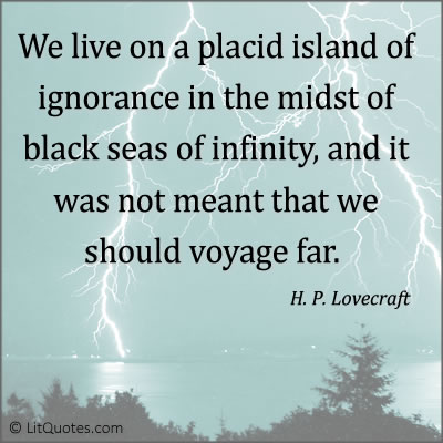 H. P. Lovecraft Quote Photo