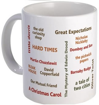 The Novels of Charles Dickens Mug